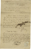 Autographs:Statesmen, Auguste Chouteau, Founder of St. Louis, Document Signed. Alsosigned by Moses Austin (clerical), founder of Austin Colony in T...