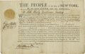 "Autographs:Statesmen, George Clinton Document Signed ""Geo. Clinton."" 12.5"" x 8""officers' commission dated October 4, 1786, from the State o..."