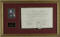 "Autographs:Statesmen, Declaration Signer Benjamin Franklin Document Signed ""B. Franklin."" One page, 18.25"" x 11.75"", American Philosophica..."