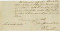 Autographs:Statesmen, Benjamin Franklin Autographed Letter Signed to His Wife, Writtenfrom London Shortly Before the Beginning of the Revolutionary...