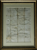 "Autographs:Statesmen, Patrick Henry as Virginia Governor Document Signed, ""PHenry."" Land grant, one page, 12.0"" x 17.0"", Richmond, March22,..."