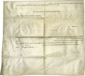 "Autographs:Statesmen, Patrick Henry Land Grant Document Signed ""P Henry,"" asGovernor of Virginia. One page, 16"" x 14.5"", partly printed,Rich..."