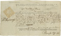 Autographs:Statesmen, Declaration of Independence Signer Thomas Heyward, Jr SignedDocument A 1756 arrest warrant, signed by Hewyard as a South C...