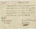 "Autographs:Military Figures, Esek Hopkins War-Date Document Signed ""Esek Hopkins."" One page, 8"" x 6.5"", Providence, Rhode Island, June, 1781. Esek ..."
