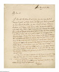 "Autographs:Non-American, Marquis de Lafayette Autograph Letter Signed ""Lafayette"".One page, in English, 7.75"" x 9.75"", Paris, November 8, 1823, ..."