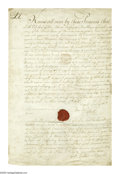 "Autographs:Non-American, Lafayette Autograph Document Signed, ""Lafayette."" This onepage, handwritten letter measures 8"" x 12.5"", and is marked a..."