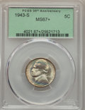 1943-S 5C MS67+ PCGS. PCGS Population: (222/4 and 25/0+). NGC Census: (2004/5 and 6/0+). CDN: $70 Whsle. Bid for problem...