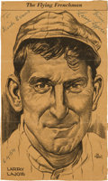 Baseball Collectibles:Others, 1954 Napoleon Lajoie Twice Signed Newspaper Clipping. ...