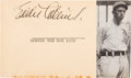 Baseball Collectibles:Others, 1939 Eddie Collins Signed Government Postcard. ...