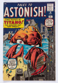 Silver Age (1956-1969):Mystery, Tales to Astonish #10 (Marvel, 1960) Condition: VG/FN....