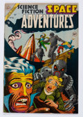 Golden Age (1938-1955):Science Fiction, Space Adventures #10 (Charlton, 1954) Condition: FN-....