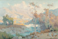 Fine Art - Painting, American:Modern  (1900 1949)  , Marion Kavanaugh Wachtel (American, 1876-1954). Autumn, SanJacinto Canyon and Evening's Glow (double-sided work),1...