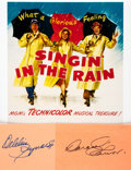 Autographs:Celebrities, [Singin' in the Rain] Debbie Reynolds and Donald O'ConnorAutographs. ...