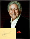 Autographs:Celebrities, Tony Bennett Autograph. ...