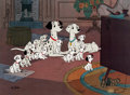 "Animation Art:Limited Edition Cel, 101 Dalmatians ""Watching Television"" Limited Edition Cel#151/500 (Walt Disney, 1991)...."