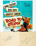 Autographs:Celebrities, [Road to Utopia] Dorothy Lamour and Bob Hope Autographs. ...