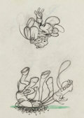 Animation Art:Production Drawing, Two-Gun Mickey Mickey Mouse Animation Drawing (Walt DisneyStudios, 1934)....