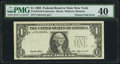 Error Notes:Foldovers, Fr. 1918-B $1 1993 Federal Reserve Note. PMG Extremely Fine 40.....
