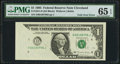 Error Notes:Foldovers, Fr. 1921-D $1 1995 Federal Reserve Note. PMG Gem Uncirculated 65EPQ.. ...