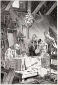 Original Comic Art:Illustrations, Bernie Wrightson Frankenstein Page 154 Illustration OriginalArt (1976)....
