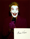Autographs:Celebrities, [Batman] Cesar Romero Autograph. ...