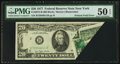 Error Notes:Foldovers, Fr. 2072-B $20 1977 Federal Reserve Note. PMG About Uncirculated 50 EPQ.. ...