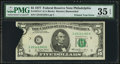 Error Notes:Printed Tears, Fr. 1974-C $5 1977 Federal Reserve Note. PMG Choice Very Fine 35EPQ.. ...