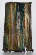 Ceramics & Porcelain, June Schwarcz (American, 1918-2015). Wall Plaque. Electroformed and stitched copper, transparent enamel. 16 inches high ...