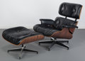 Furniture : American, Charles Eames (American, 1907-1978) and Ray Kaiser Eames (American,1912-1988). 670 Armchair and 671 Ottoman, designed 1...(Total: 2 Items)