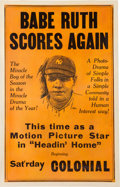 "Baseball Collectibles:Others, 1920 Babe Ruth ""Headin' Home"" Original Release Window Card...."