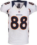 Football Collectibles:Uniforms, 2012 Demaryius Thomas Game Worn Denver Broncos Jersey - Used 10/7 vs. New England. ...