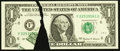 Error Notes:Printed Tears, Fr. 1925-F $1 1999 Federal Reserve Note. Crisp Uncirculated.. ...