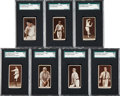Baseball Cards:Lots, 1912 T207 Recruit SGC 60 EX 5 Collection (7). ...