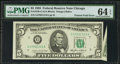 Error Notes:Foldovers, Fr. 1978-G $5 1985 Federal Reserve Note. PMG Choice Uncirculated 64EPQ.. ...