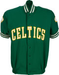 "Basketball Collectibles:Uniforms, Circa 1982-83 Cedric ""Cornbread"" Maxwell Game Worn Boston CelticsShooting Jacket. ..."