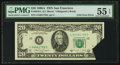 Error Notes:Foldovers, Fr. 2076-L $20 1988A Federal Reserve Note. PMG About Uncirculated 55 EPQ.. ...
