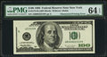 Error Notes:Obstruction Errors, Fr. 2175-B $100 1996 Federal Reserve Note. PMG Choice Uncirculated64 EPQ.. ...