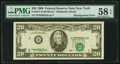 Error Notes:Shifted Third Printing, Fr. 2077-B $20 1990 Federal Reserve Note. PMG Choice About Unc 58 EPQ.. ...