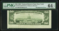 Error Notes:Skewed Reverse Printing, Fr. 2125-B $50 1993 Federal Reserve Note. PMG Choice Uncirculated64 EPQ.. ...