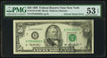 Error Notes:Ink Smears, Fr. 2125-B $50 1993 Federal Reserve Note. PMG About Uncirculated 53EPQ.. ...
