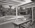 Photographs:Gelatin Silver, Julius Shulman (American, 1910-2009). Patio seating by the pool, The Perlberg Residence, by architect William F. Cody, c...