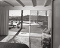 Photographs:Gelatin Silver, Julius Shulman (American, 1910-2009). Sitting by the pool, Malone (Joseph J. and Bernice A.) Residence, by architect Willi...