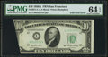 Error Notes:Foldovers, Fr. 2011-L $10 1950A Federal Reserve Note. PMG Choice Uncirculated64 EPQ.. ...