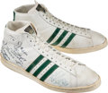 Basketball Collectibles:Others, Late 1970's Marques Johnson Game Worn, Signed Milwaukee BucksSneakers....