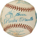 Baseball Collectibles:Balls, 1957 New York Yankees Team Signed Baseball....