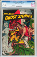 Golden Age (1938-1955):Horror, Amazing Ghost Stories #15 (St. John, 1954) CGC VF- 7.5 Off-whitepages....