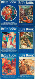 Books:Pulps, [Pulps]. Edgar Rice Burroughs. Complete Six Part Serialization ofthe Burroughs Story Swords of Mars. Blue Boo...