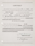 Basketball Collectibles:Others, 1939 Lynn St. John Signed Contract--Rare Basketball Hall of Fame Autograph....