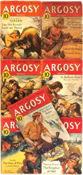 Books:Pulps, [Pulps]. Edgar Rice Burroughs. Complete Seven Part Serialization of the Burroughs Story Lost on Venus. Argosy ...