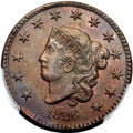 Large Cents, 1826 1C N-5, R.2, MS64 Brown PCGS. CAC....